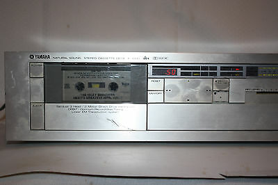 Vintage Silver YAMAHA K-1000 Stereo Cassette Deck 3 Head