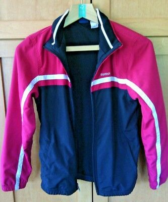Reebok Children's Kids Red Jacket Size XS Full Zip up Youth Warm Weather Proof