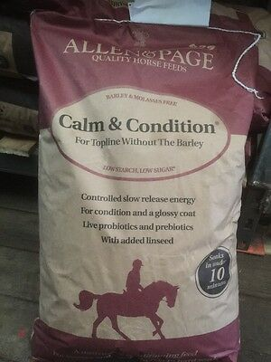 Allen And Page Calm & Condition 20kg horse feed collection glossop