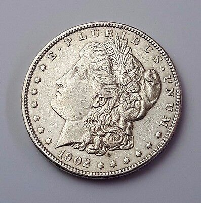U.s.a - Dated 1902 - Silver - Morgan - $1 One Dollar Coin - American Silver Coin