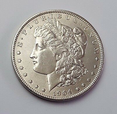 U.s.a - Dated 1904 - Silver - Morgan - $1 One Dollar Coin - American Silver Coin