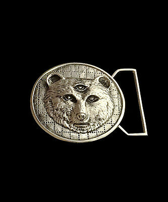 "Grateful Dead Owsley ""Bear"" Tribute Buckle in White Brass Belt Buckle - 100mics"