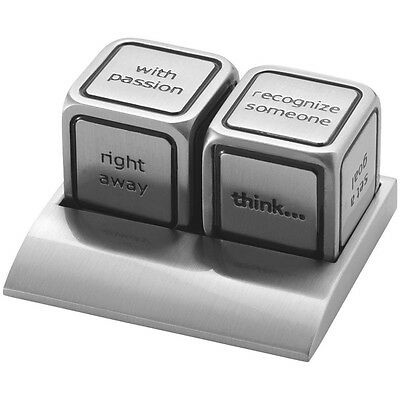 Vegas Decision Maker Dices Decisions Making Phrases Cube Gambling Lucky Casino