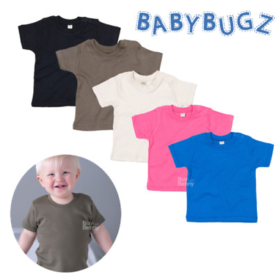Baby T-Shirt Organic Soft Cotton Shoulder Snaps Comfort Tee Top Boy Girl Gift