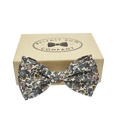 Handmade Floral Bow Tie in Liberty Print Gift Boxed Adult & Junior sizes