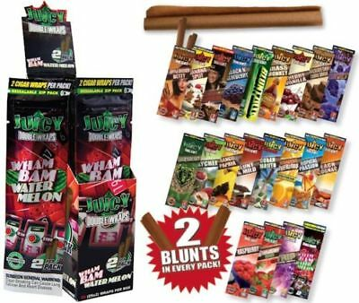1 Pack of 2 BLUNT WRAP - DOUBLE PLATINUM - ZERO - ROLLING PAPER
