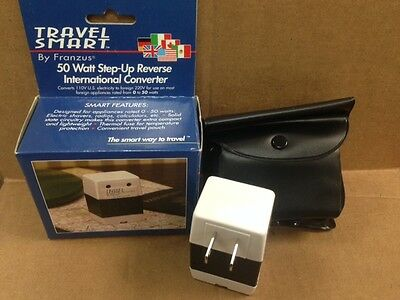 FRANZUS FR-22 Travel Converter 50 watt Converts 110 To 220 Volts European NEW