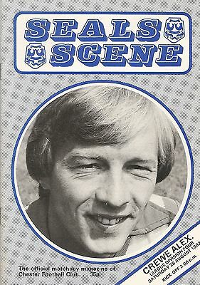 Chester City v Crewe Alexandra, 28th August 1982, Division 4