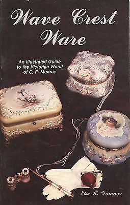 Monroe Wave Crest Art Glass - Types Design Numbers Etc. / Signed Book + Values
