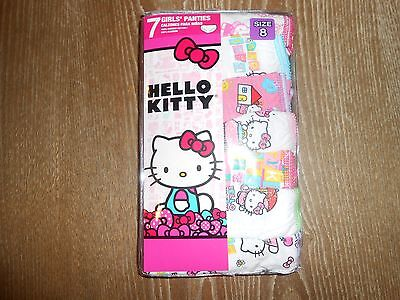 !!! Great Deal On 7 Pairs Of Girl's Hello Kitty Panties Size 8 !!!