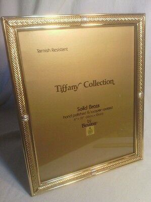 "Vintage Birks, Quality Solid Brass 8x10"" Photo Frame, Tiffany Collection"