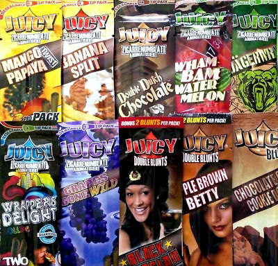 10 Pack of 2 BLUNT WRAP - JUICY JAY'S - CHOOSE YOUR FLAVOURS - ROLLING PAPER