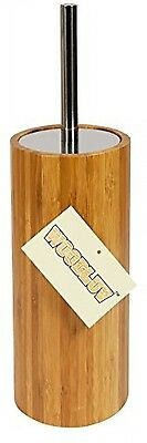 Woodluv Natural Bamboo Cylindrical Toilet Brush And Holder