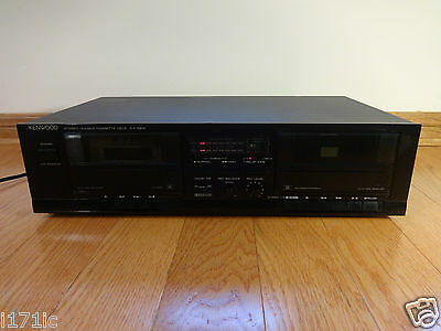 Kenwood KX-58W Stereo Dual Cassette Deck 1989 Japan TESTED 100% Works Great!