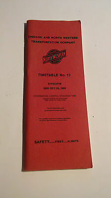 1989 Chicago & NorthWestern Timetable No. 10 Central Standard Time