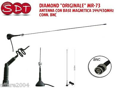 DIAMOND ORIGINAL MR-73B ANTENNA WITH MAGNETIC BASE 144/430MHz CONNECTOR BNC