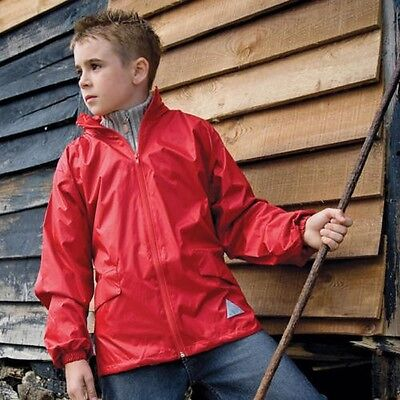 Result JRE92 Junior Kids Windcheater in a bag Lightweight Concealed Hood Jacket