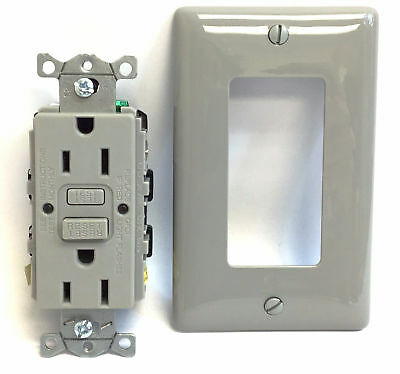Hubbell GFCI Commerical Self Test Recepticle Wiring Device 15A 125V - GFRST15GY