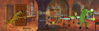 Scooby-Doo Nowhere to Hyde Signed by Hanna+Barbera Hand Paint Cel NEW LE 50