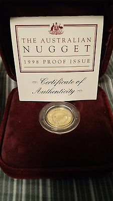 1998 Australia $15 1/10 oz Gold Nugget Coin Proof Issue *Low Mintage*