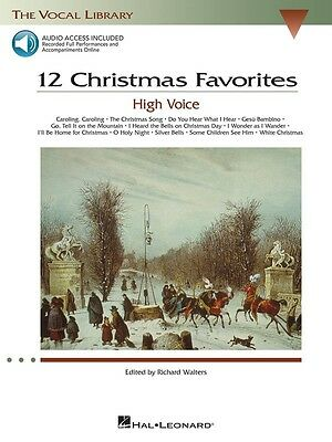 12 Christmas Favorites The Vocal Library - High Voice - Vocal Music Book