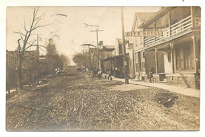 RPPC City Hotel RIMERSBURG PA Clarion County Pennsylvania Real Photo Postcard