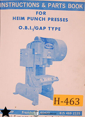 Tremendous Heim 30 And 50 Ton Punch Press Instructions Wiring And Parts Manual Wiring Cloud Nuvitbieswglorg
