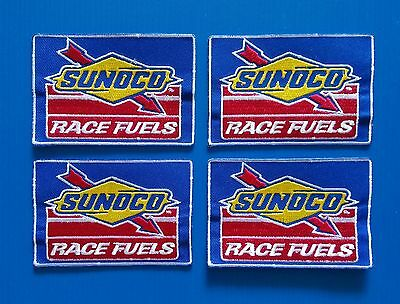 4 SUNOCO RACE FUEL GAS OIL Embrodered Iron Or Sewn On UNIFORM  Patches Free Ship