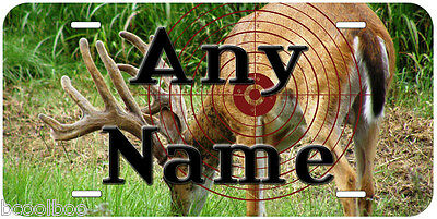 Deer Hunter Aluminum Any Name Personalized Novelty Car Auto License Plate