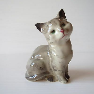 Vintage Royal Doulton Figure, Grey Tabby Cat Kitten, Cute Collectible