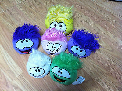 Disney Club Penguin Whole Plush Puffle Collection 6 of them super clean