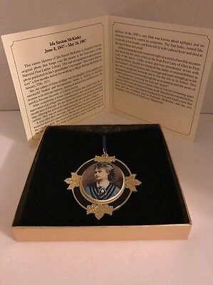 Ida McKinley  National First Ladies Library Pendant  1999