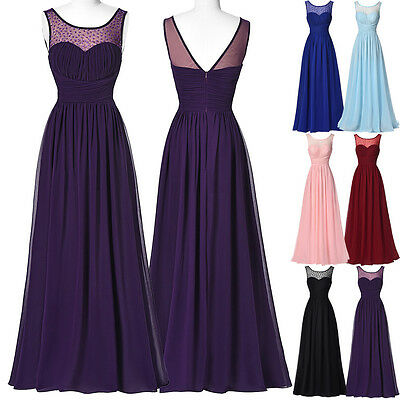 Long Chiffon Evening Party Dress Cocktail PROM Pageant Bridesmaid Formal Dresses
