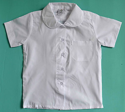 NEW Girl Short sleeve School Formal shirt WHITE size 5,6,8,10,12,14,16