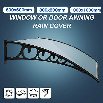 DIY Fixed Canopy Window or Door Awning Rain Cover 60x60, 80x80 or 100x100cm
