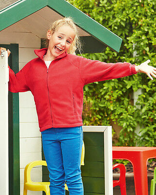 Fruit Of The Loom 62511 Childrens Full Zip Outdoor Fleece Winters Jacket Coat