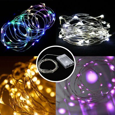 5M Battery Operated Lights 50 LED Micro Silver Wire Waterproof Fairy Xmas Par NG