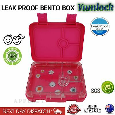 Bento Lunch Box Food Container School Picnic 6 Compartments Leakproof by Yumlock