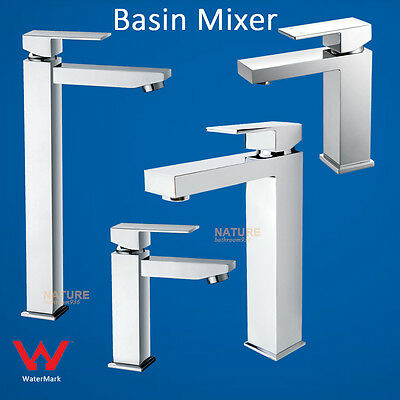 WELS Basin Mixer Bathroom Counter Faucet Tap Square Tall / Standard Vanity Water