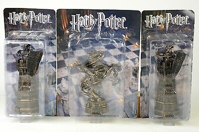 Harry Potter Wbei - 21 Wizard Chess Pieces + noteblock & bag - sealed / new