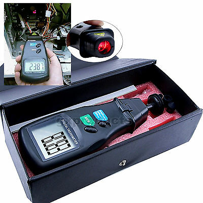 2-IN-1 Laser Photo Rotational Surface Speed Laser Photo & Non-Contact Tachometer