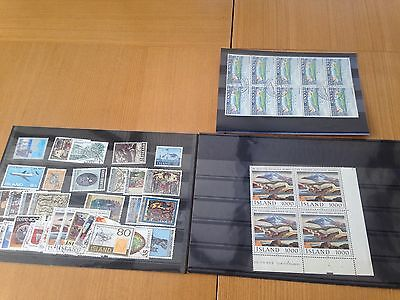 Iceland mint and used selection on cards, various better values spotted, nice