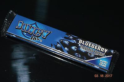 Juicy Jay's Rolling Papers - BLUEBERRY - King Sized - 1 Pack