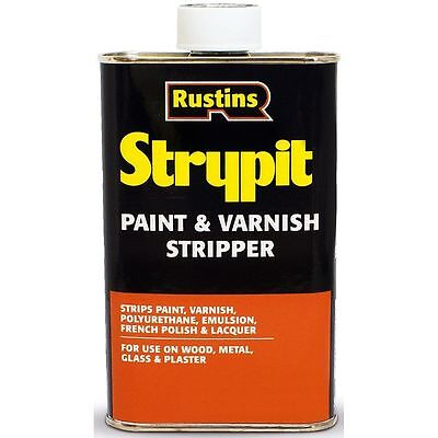 RUSTINS 250ml STRYPIT PAINT & VARNISH REMOVER STRIPPER WOOD METAL GLASS STONE