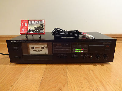 Yamaha K-220 Natural Sound Stereo Cassette Deck Japan TESTED 100% Works Great!
