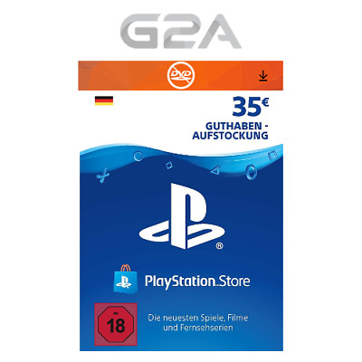 PSN 35 EURO DE - Playstation Network €35 EUR Card Guthaben Download Code PS4 PS3