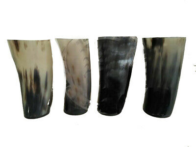 """Medieval Viking Drinking Horn Mug Cup Game of Thrones 6"""" Assorted  4Pcs"""