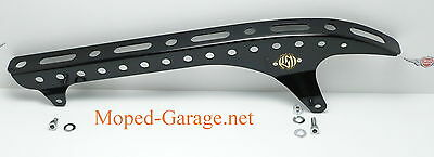 Harley Dyna Belt Guard Roland Sands Design Glanz Schwarz Chopper Riemen Schutz *
