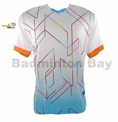 Arora Dri-Fast BMT32 White T-Shirt Badminton Sports Jersey Quick Dry Fast