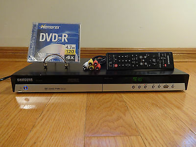 Samsung DVD-R150 DVD Video Recorder + REMOTE  RCA Cable TESTED Works Great!